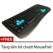 Bàn phím USB Ikonemi Simpli Gaming 16 - tặng mousePad (Đen)