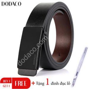 Thắt lưng da nam hai mặt cao cấp DODACO DDC14 (Đen)