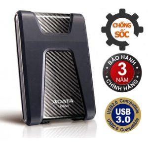 Ổ cứng di động 3.0 1TB chống sốc ADATA HD650 (Đen)