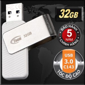 USB 3.0 32GB Team Group INC C143 (Trắng)