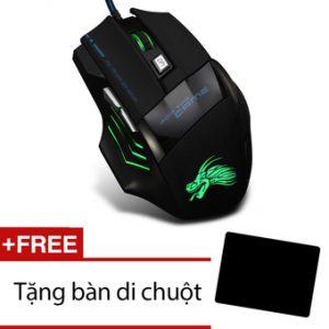 Chuột chơi game có dây Dragon X3 Hawk Lee Shop (Đen) + Tặng miếng lót chuột
