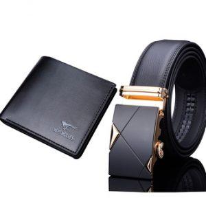 Bộ đôi thắt lưng da nam và ví da MPTG002