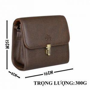 Túi đeo chéo nữ LATA HN22 (Da nâu)
