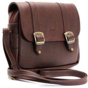 Túi đeo chéo LATA HN08 (Da nâu)