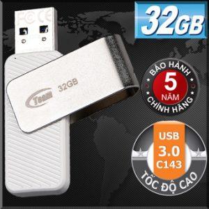 USB 3.0 32GB Team Group INC C143 (Trắng)