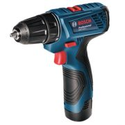 Máy khoan vặn vít dùng pin GSR 120 LI (Xanh) + Tặng bộ mũi khoan và vặn vít 34 món Bosch X-Line – 2607010608