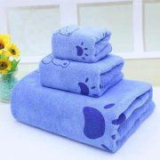 Bộ 3 khăn tắm khăn mặt khăn lau(Xanh dương nhạt)