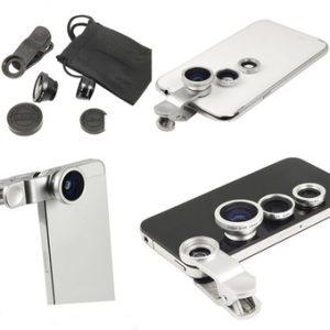 Lens chụp ảnh 3 trong 1 cho điện thoại