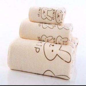Bộ 3 khăn khăn tắm khăn lau đầu khăn mặt
