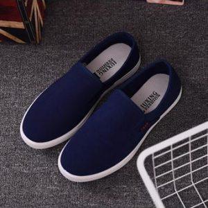 Giày Vải Canvas Nam (Xanh Đen)