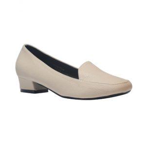 Giày gót vuông 3 phân Anale (Kem)