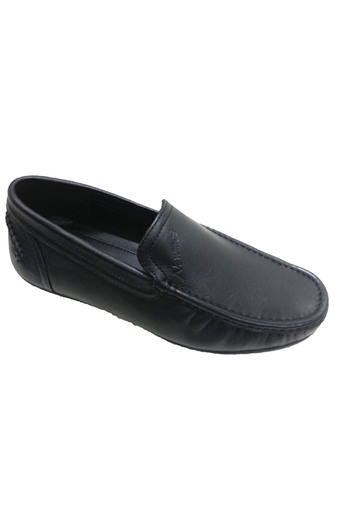 Giày lười nam da AD014 (Đen)