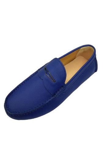 Giày lười mọi da mềm thật Xanh trẻ trung mới AD226X