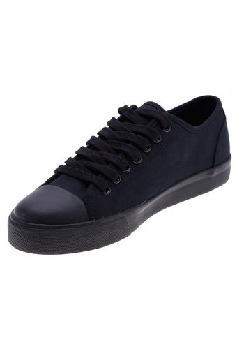 Giày vải nữ kiểu cột dây Aqua Sportswear W1031A (Đen đế Đen)